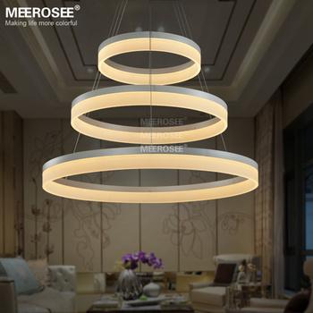 italian pendant lighting. MEEROSEE Italy Style Design Three Circle Modern Acrylic Aluminum Big Pendant Lamp MD5060-3R Italian Lighting G