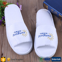 2017 Cheap Rubber Hotel Slippers in White Washable Cotton Guest Disposable Slippers