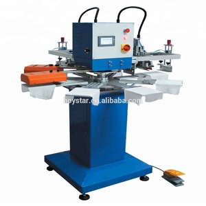 2 Color T shirt Rotary Screen Printing Equipment