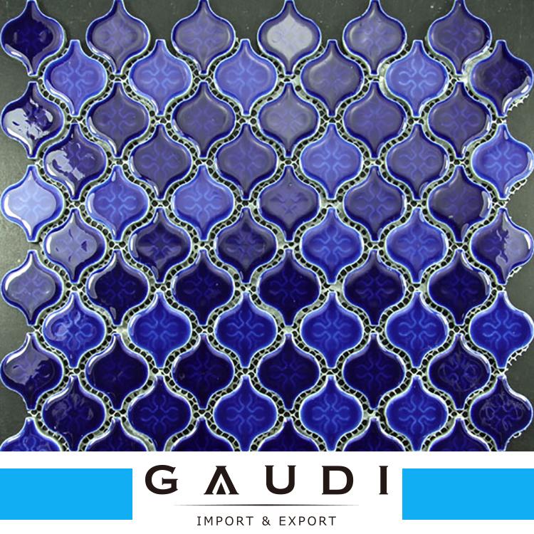 blue arabesque tile tile design ideas