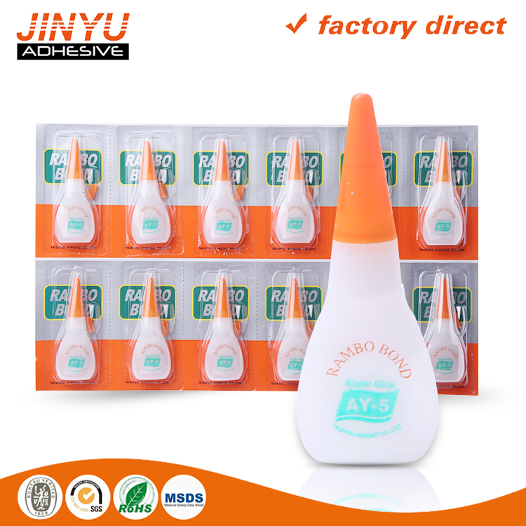 Manufacture Instant bond super glue for metal plastic wood rubber