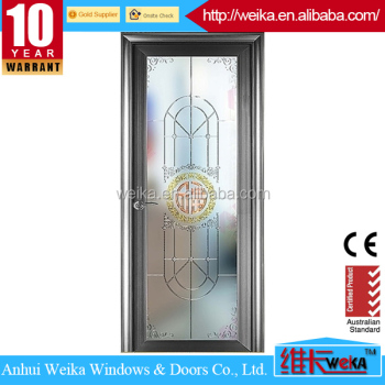 2015 hot selling sliding aluminum alloy bathroom door toilet door
