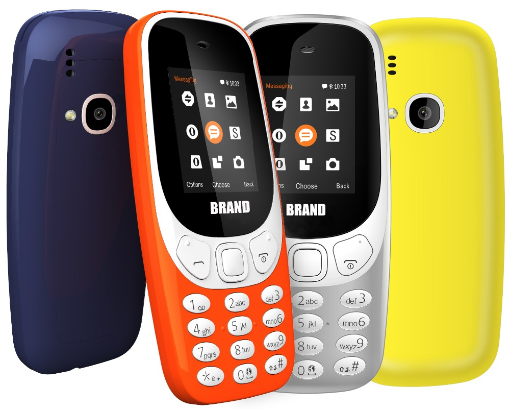 China GSM quad band cell phone 3310 2.4 inch with bluetooth FM radio dual sim cards mobile phone