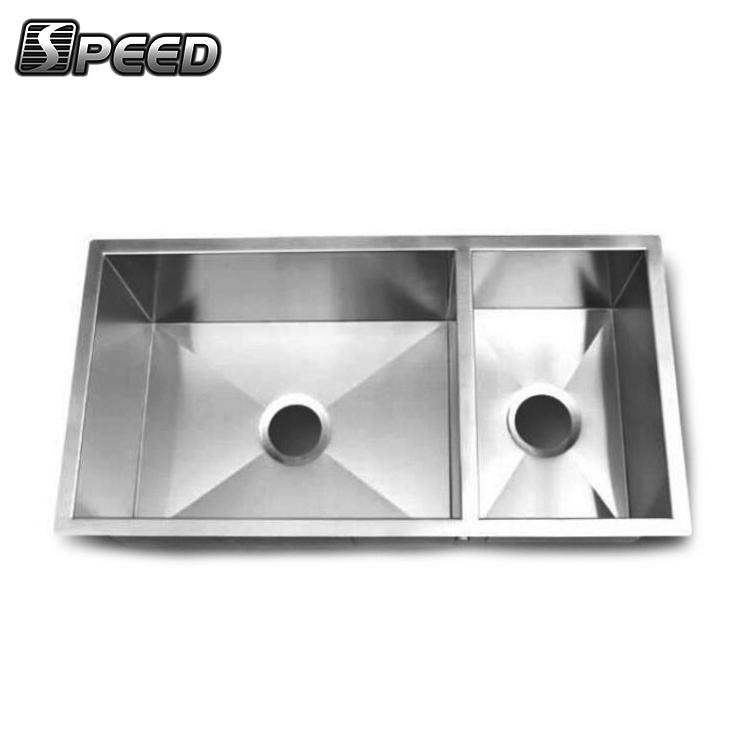Cheapest 304 Stainless Steel Rectangular Sinks Undermount Double Bowl 18  Gauge Inox Kitchen Sink - Buy Rectangular Sinks,18 Gauge Inox Kitchen ...