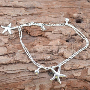 Summer Beach Starfish Shaped Charm Rope String Anklets For Women Ankle Bracelet Woman Sandals On the Leg Chain Foot Jewelry