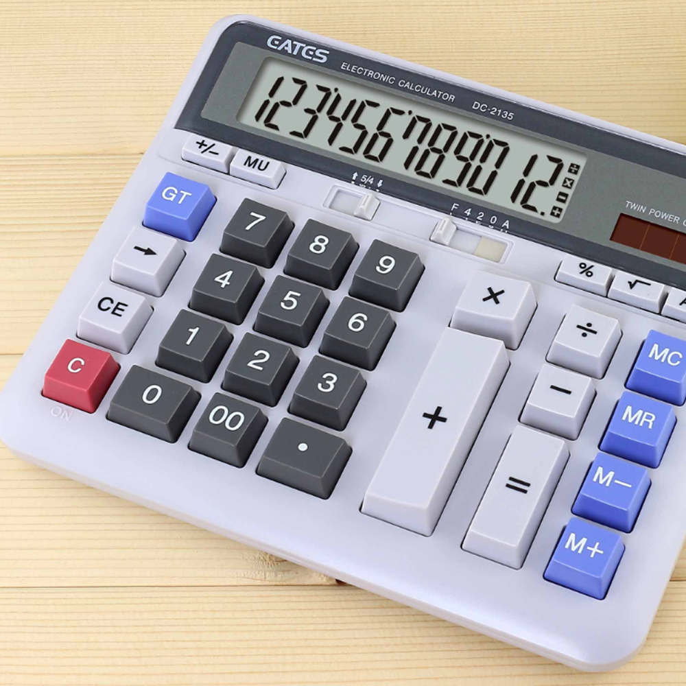 It Keyboard General Calculator Solar And Battery Power 12 Digits ...