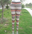 Fashion Adult Aqua/Orange Aztec Print Leggings