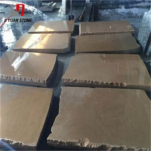 Lower Price Yellow Sandstone Rough Finished Wooden Slabs Blocks