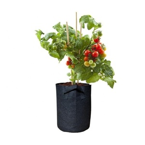 4 / 5 / 10 / 15 / 20 / 30 / 40 gallon black wholesale felt grow bag plant container smart flower pots