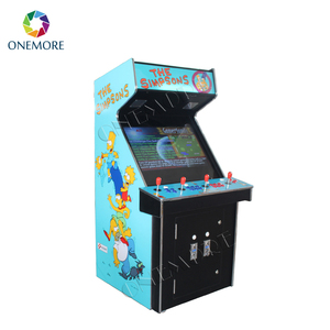 4 players 32 inch upright arcade video game machine with raspberry pi