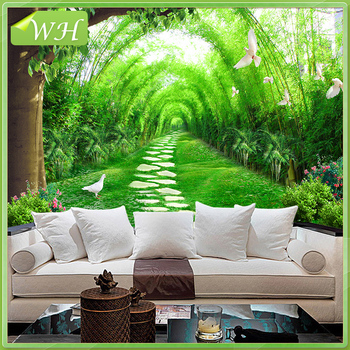 3D Wall Murals Chinese Pastoral Scenery Bamboo Forest Wallpaper Living Room  Sofa Background Wallpaper Part 61