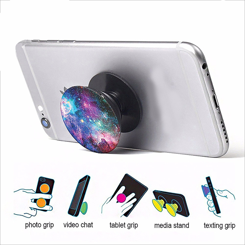 Multifunctional Cell Phone Ring Stand Holder 360 Degree View Rotation Finger Ring Holder for Mobile Phone