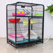 3 level tube metal small animal live breeding cat pet cage