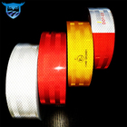 Prismatic ece 104 r red reflective self adhesive glue pvc pet acrylic tape film vinyl stripe sheeting sticker in rolls for car