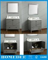 bertch 30 inch luxury wooden bathroom vanity cabinet with glass sink top