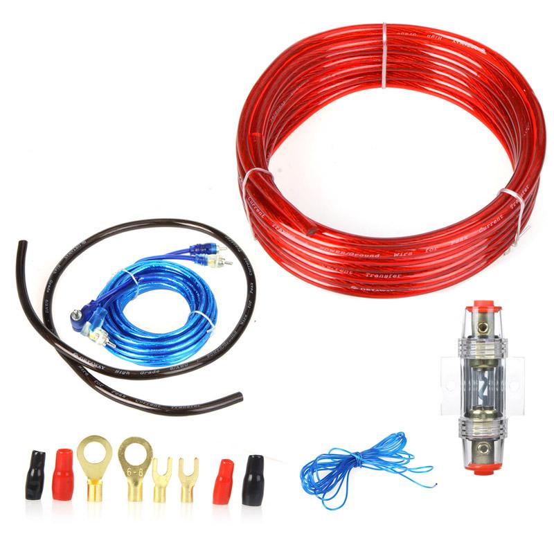 1500 Вт автомагнитолы подключения усилителя сабвуфер монтажный комплект 8GA кабель питания 60 А держатель предохранителя