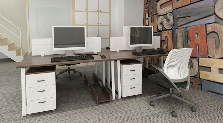 Factory Direct Two Seat Mdf Simple Office Table Designs In Wood Design