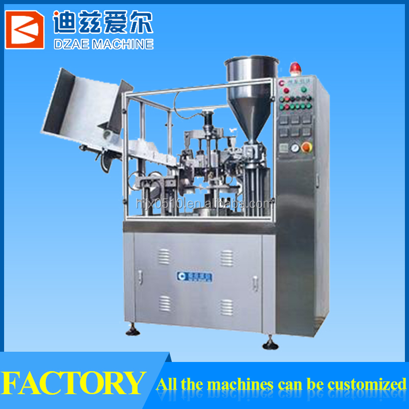 Factory sale automatic plastic tube filling and sealing machine ,filling and sealing equipment,M wuxi DZAE