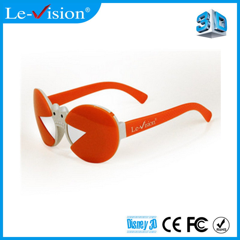 High quality passive plastic 3D films kids glasses circular polarized 3d plastic glasses movies 3d kids glasses