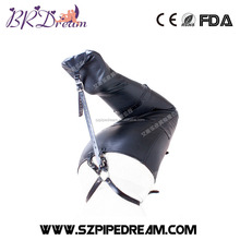 BDSM fetish lower body bondage tight bag soft leather harness female slave restraints cosplay costumes