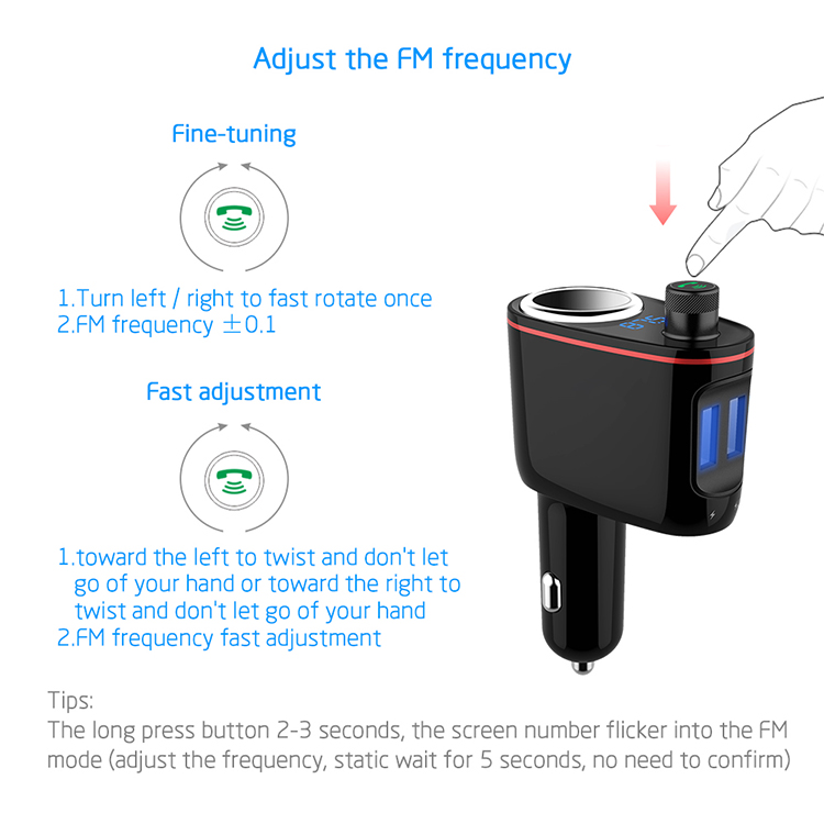Factory Best Bluetooth Mp3 Player With Bluetooth Capability And Bluetooth  Fm Transmitter Handsfree Call - Buy Car Fm Transmitter Mp3 Player,Mp3  Player