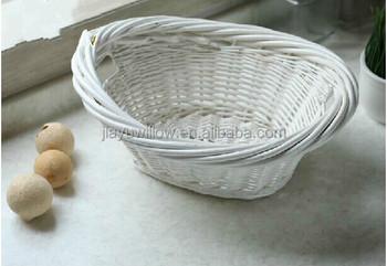Gemüsekorb Küche   Handgefertigt Ovale Weiss Wicker Gemusekorb Kuche Obst Gemuse Korb