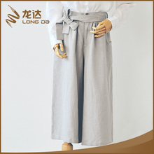 Longda New design fashion color optional casual wide leg women's pants