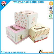 Custom design white cardboard paper cheese cake box for packaging