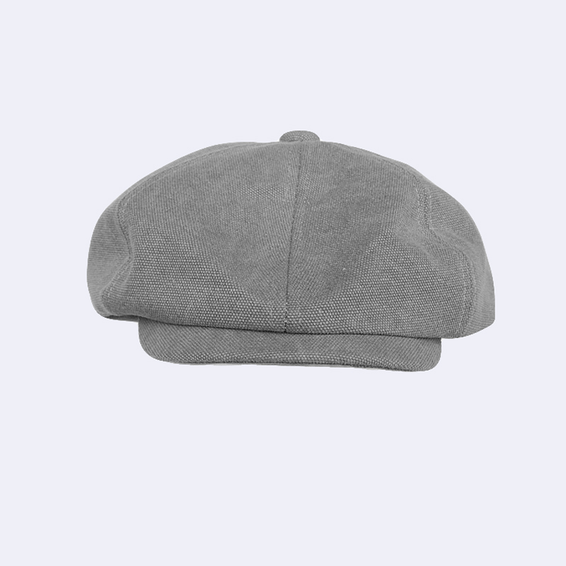 Baker Boy Men Wearing Baggy 8 Panel Blue Grey Black Tan Canvas Newsboy Flat Caps