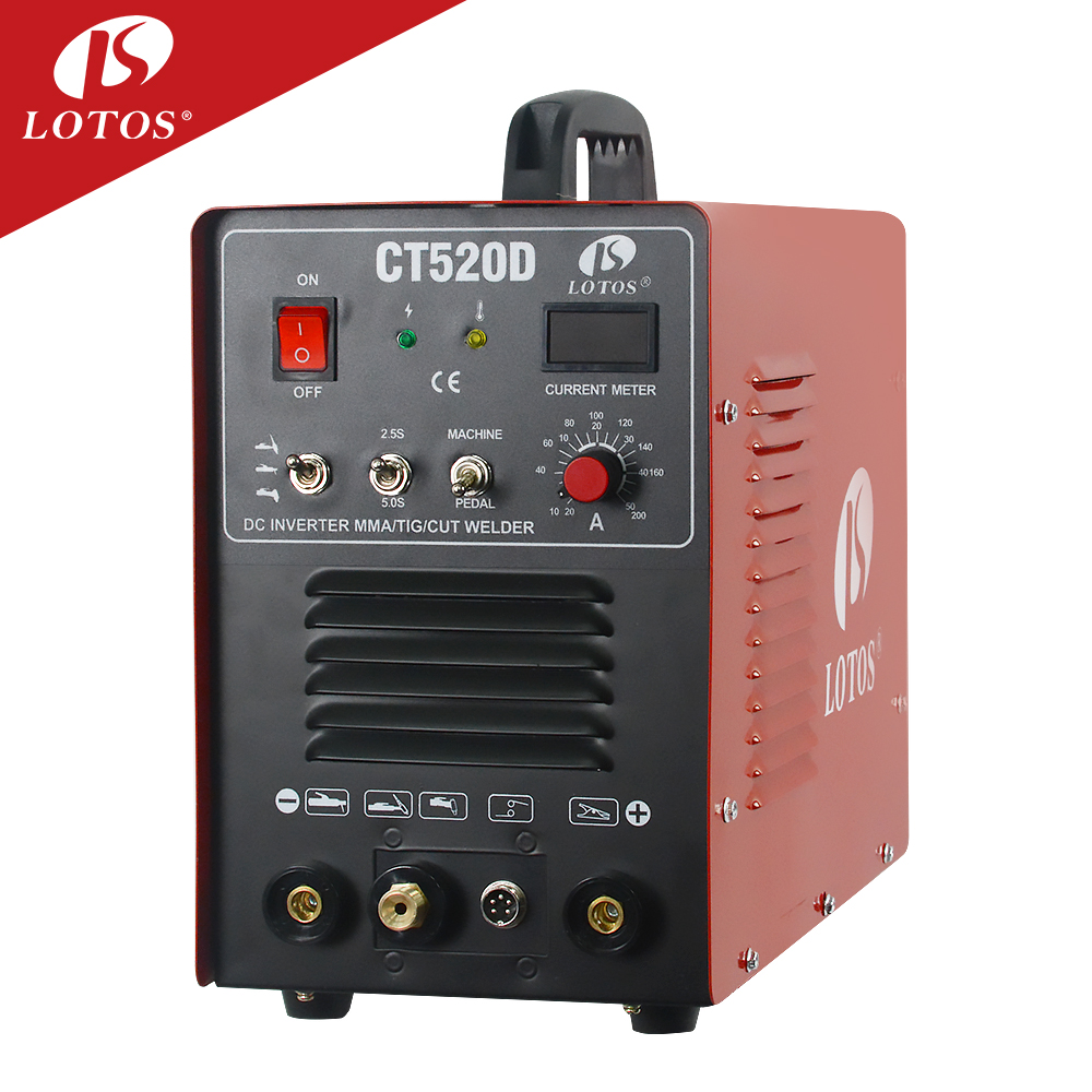 Lotos CT520D <strong>welding</strong> 3 in 1welder plasma cutter small tig argon mma welder <strong>welding</strong> machine price hangzhou