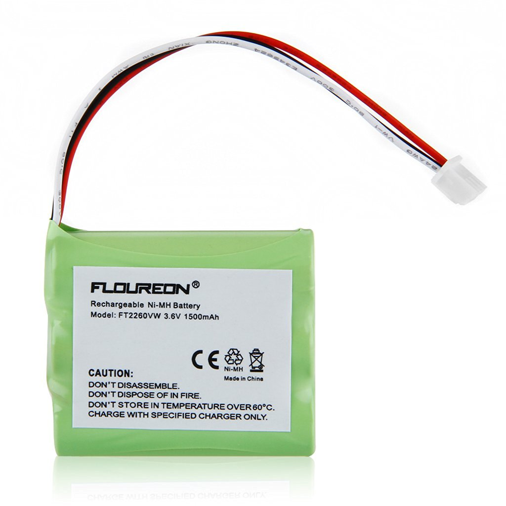 Floureon 3.6V 1500mAh Rechargeable batteries for Huawei Home Phone Connect FT2260VW