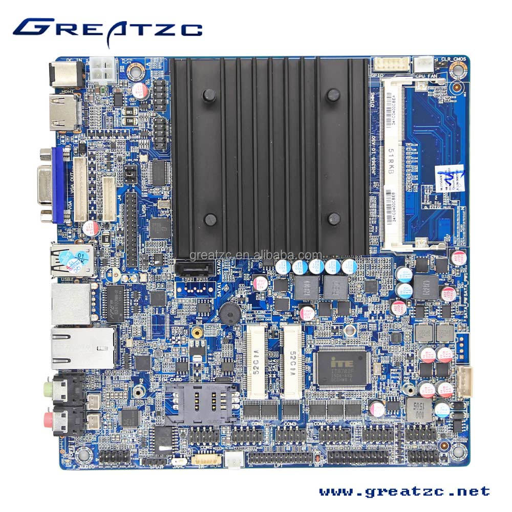 ZC-BT19DL Fanless J1900 Motherboard With LPT&TPM-Header,J1900 Quad-Core 2 Ethernet Lan Ports Mini Itx Motherboard