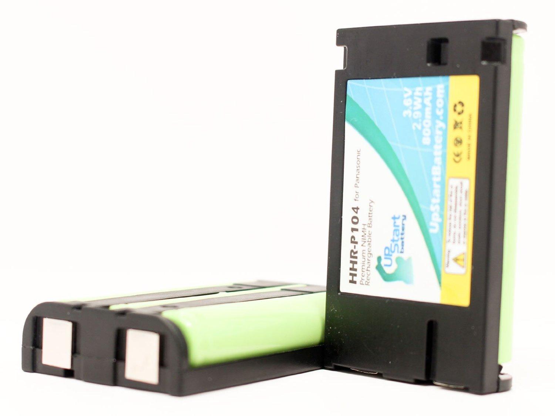 2x Pack - Panasonic KX-TG5480 Battery - Replacement for Panasonic Cordless Phone Battery (800mAh, 3.6V, NI-MH)