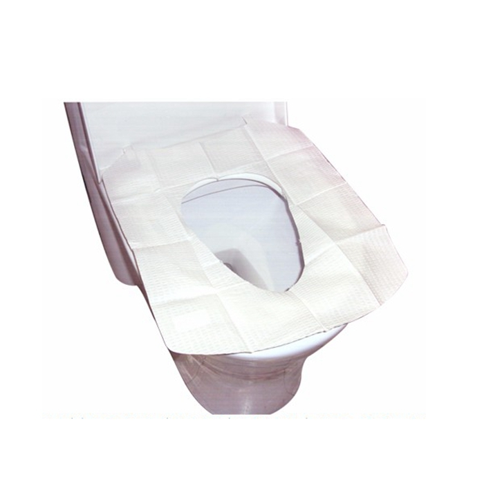 5pcs/set Disposable Toilet Mat Antibacterial Waterproof Seat Cover Paper