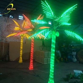 led coconut palm tree light smart christmas decoration lights fancy artificial coconut palm