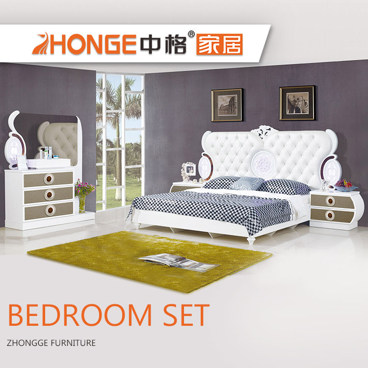 King Size Bed Mdf French Style High Gloss White Modern Wood Home Furniture  Fancy Bedroom Set - Buy French Style Bedroom Set,High Gloss White Bedroom  ...