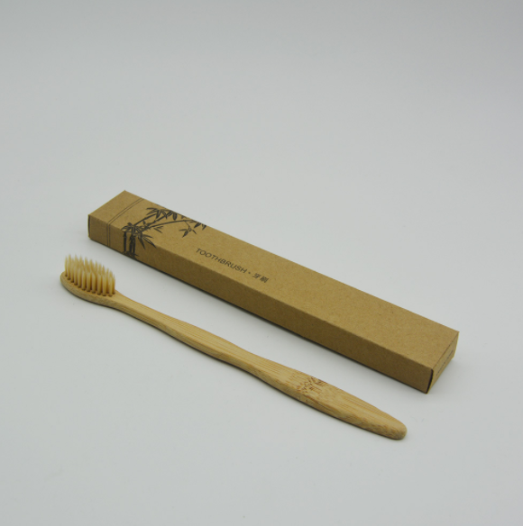 logo custom hotel wooden toothbrush, babay bamboo toothbrush with long handle