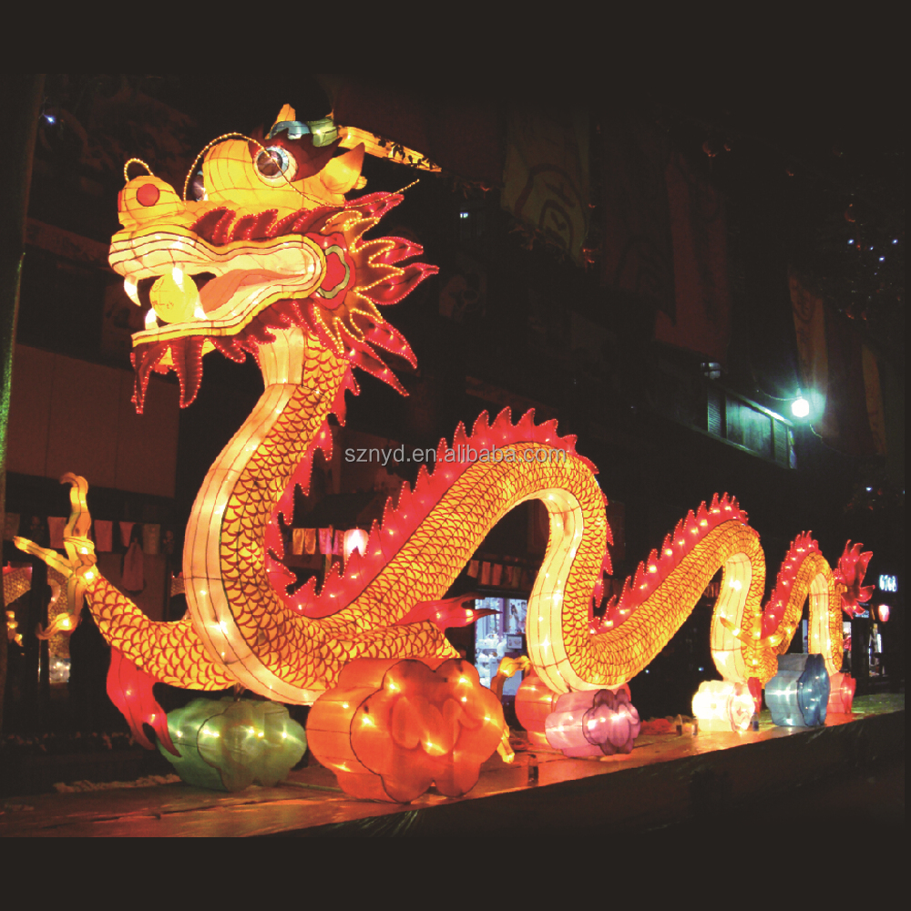Hot Sale Giant Decorative Lighted Dragon Lantern Chinese ...