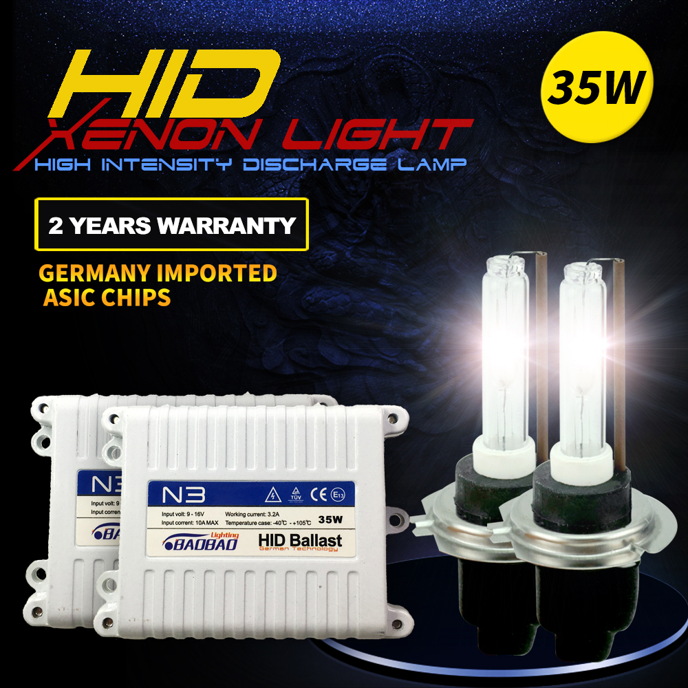 Cnlight Top Quality Car hid headlight bulb 35W car styling 4300k 6000k 8000k H1 H3 H7 H11 9005 9006 for Volkswagen Toyota Honda