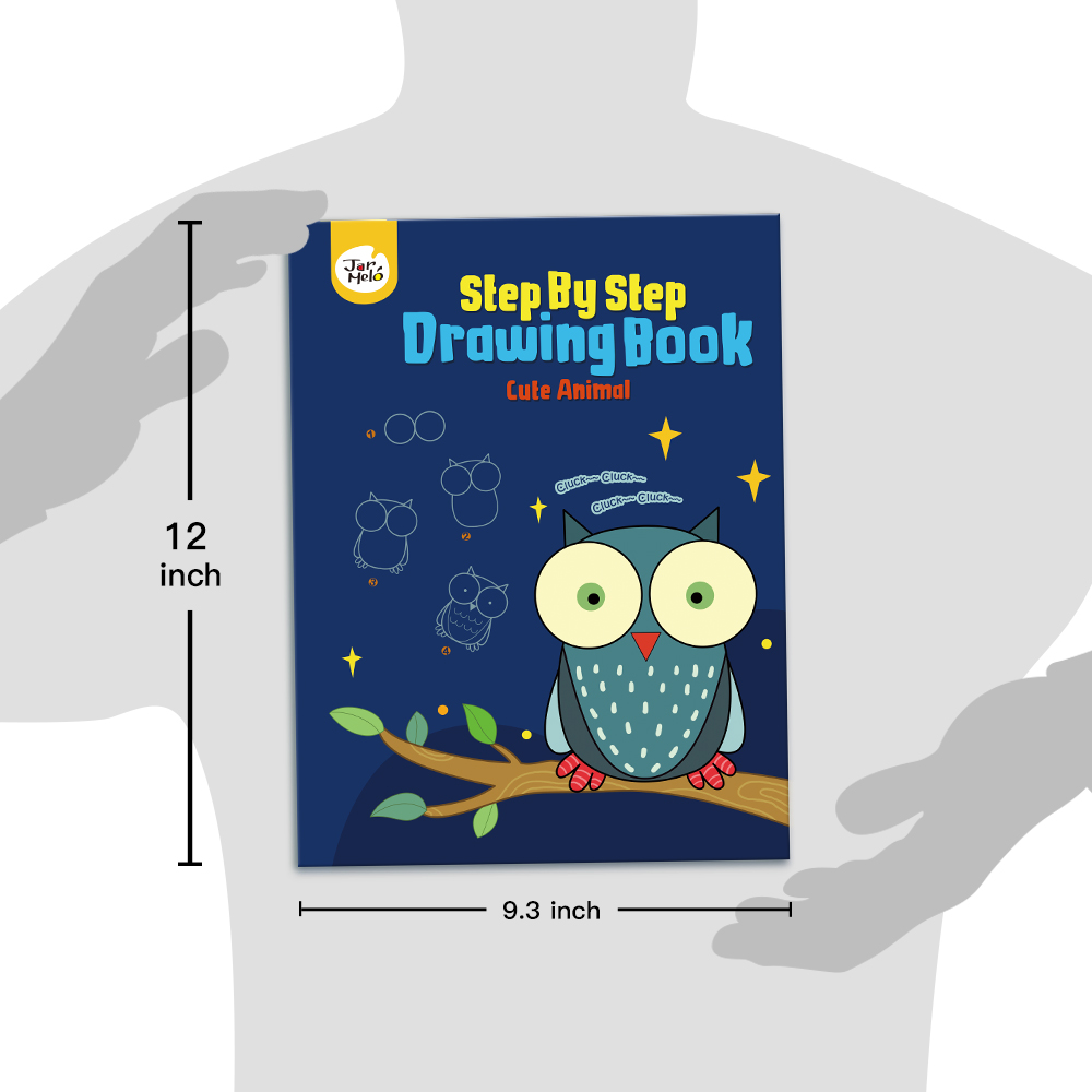 Step by Step Drawing Book - Cute Animals Doodling Book For Kids