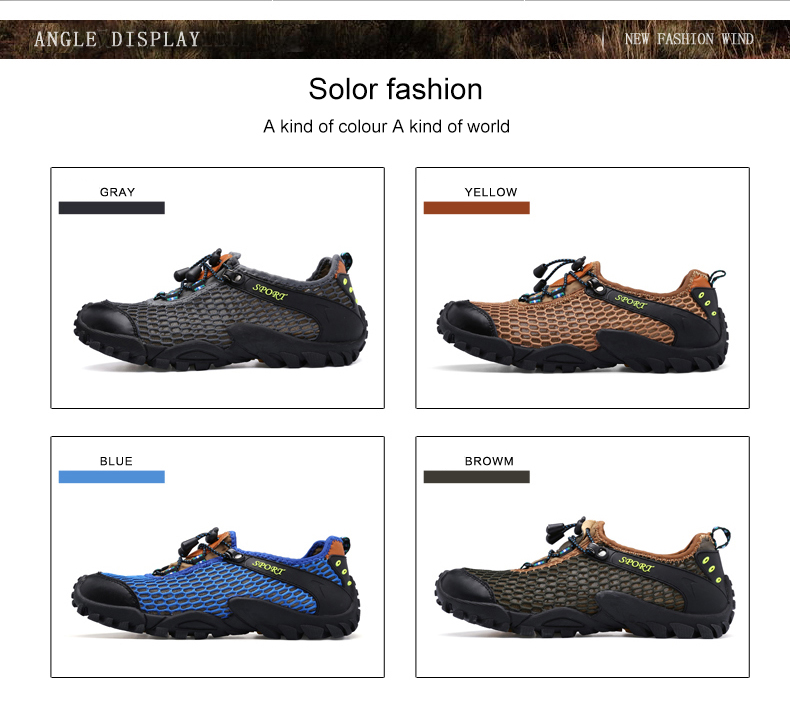 travel outdoor mesh hiking breathable SDIiLAN brown yards shoes bottom soft casual41 men's qUt8O5w