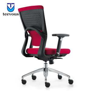 Bureau furniture middle size hydraulic office chair comfortable red office desk chair
