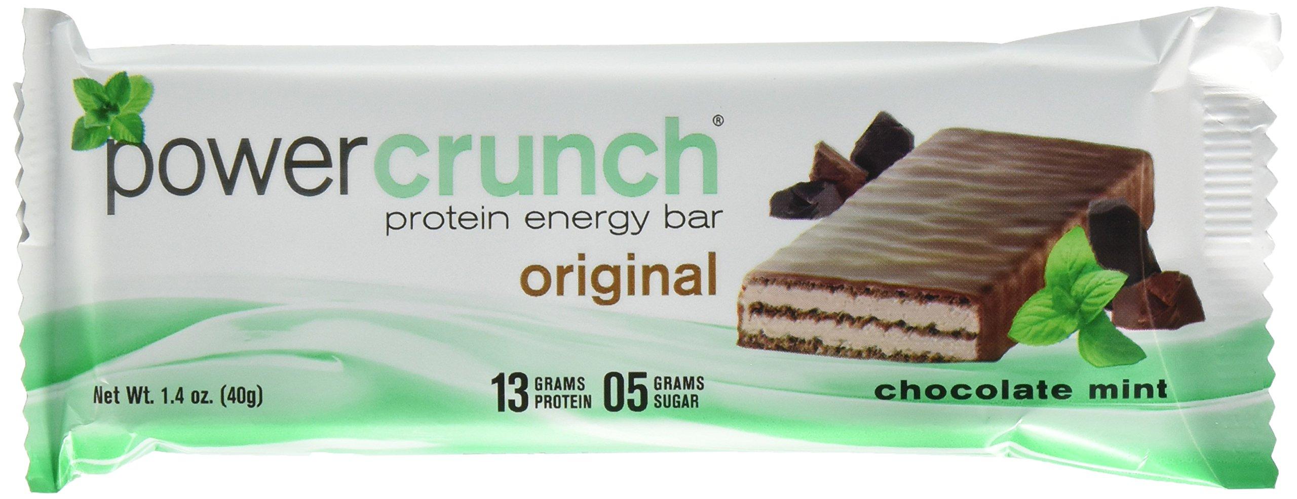 Power Crunch Protein Energy Bar, Chocolate Mint, 1.4-Ounce Bars, 12 Count