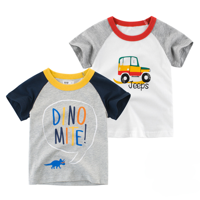 Wholesale lovely animal pattern T shirt for kids good quality children clothing