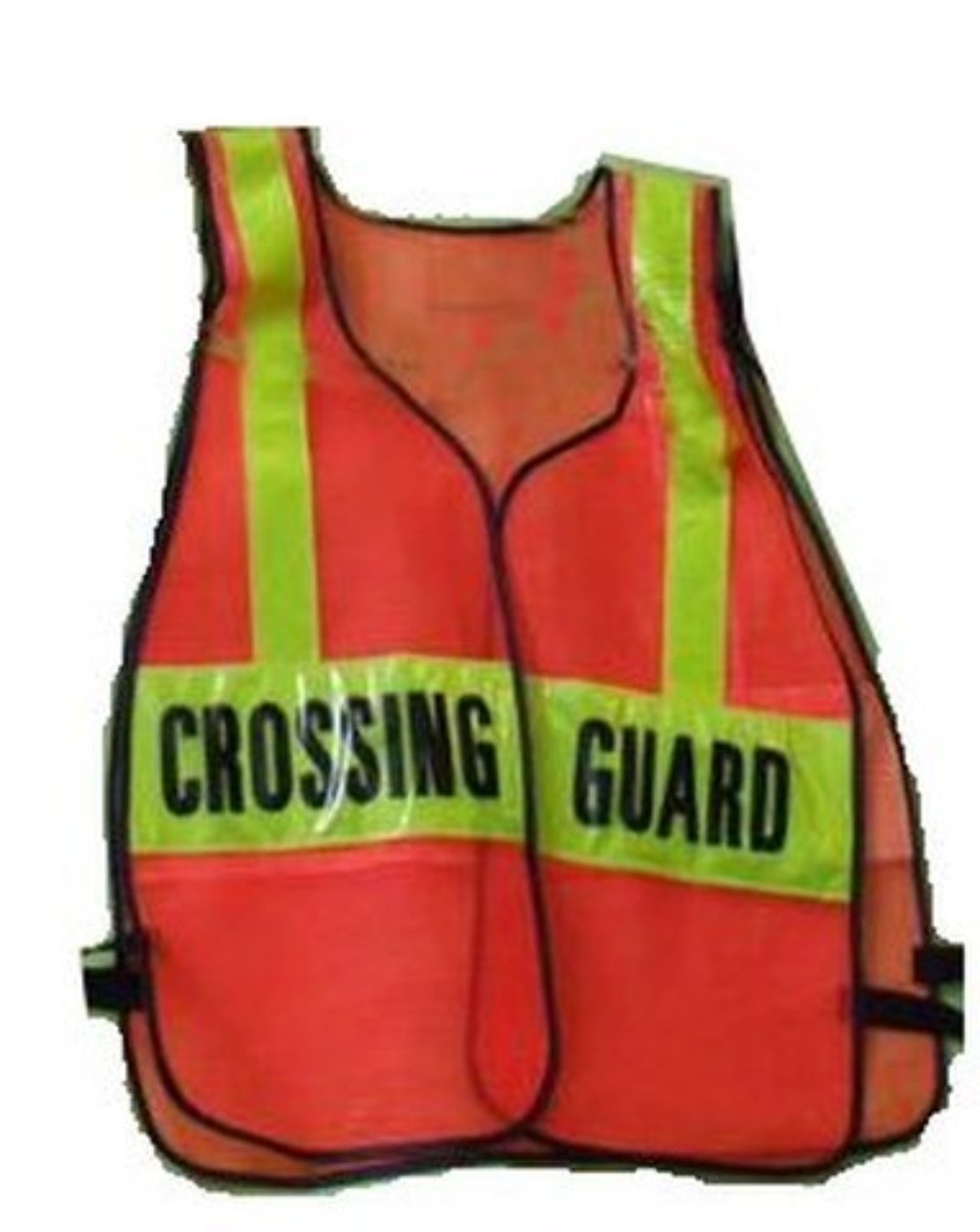 SCHOOL CROSSING GUARD Orange REFLECTIVE Traffic Safety Vest One Size Fits All