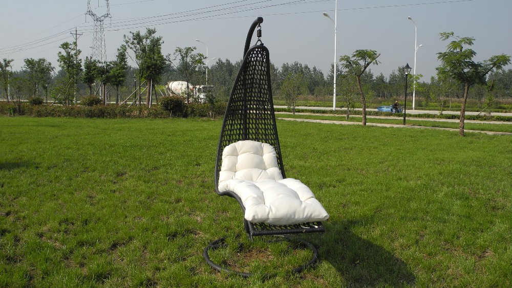Amazing Cheap One Person Reclining Outdoor Rattan Hanging Egg Swing Chair For Sale  For RH59