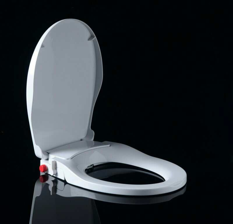 Bathroom Non Electric Self Cleaning Pp Soft Close Built In Bidet Toilet Seat With