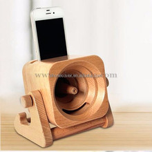 3.0 Channels and Portable,Wireless,Mini Special Feature Wood Bamboo Charger Tablet Holder Speaker for mobile phone