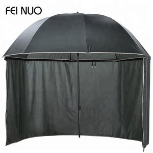 Modern design wholesale solid dyed waterproof sunshade beach tent umbrella with curtain