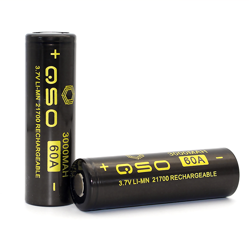 QSO IMR 18650 Battery 3000mah 60A 3.7V 21700 High Drain Rechargeable Battery Flat Top